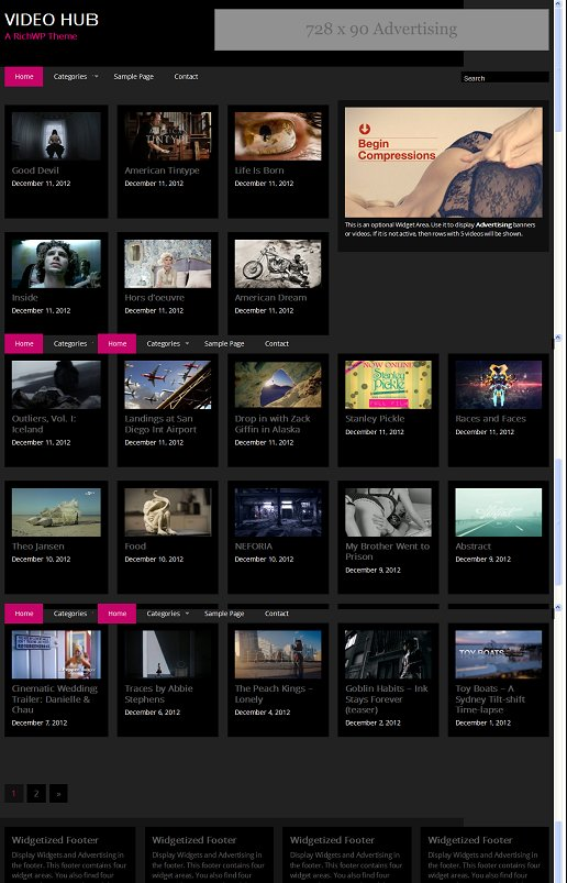 Video Hub RichWP WordPress Video Theme