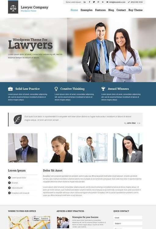 Lawyer Corporate WordPress Theme : Ait Themes