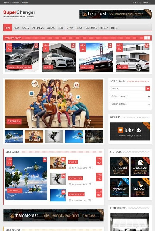 SuperChanger WordPress Theme - Full Responsive Magazine Theme