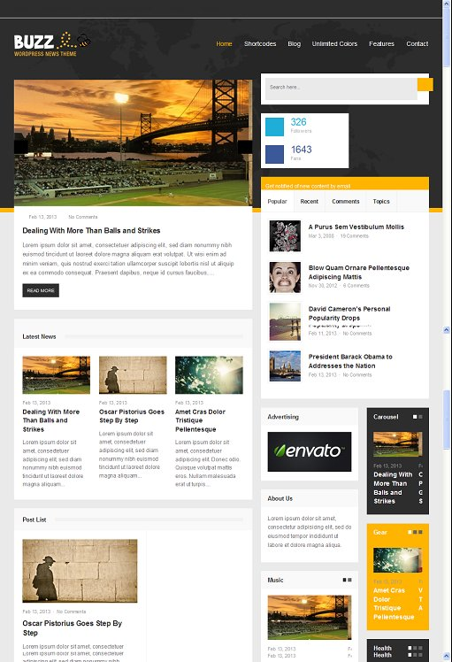 Designer Themes Buzz Responsive WordPress News Theme