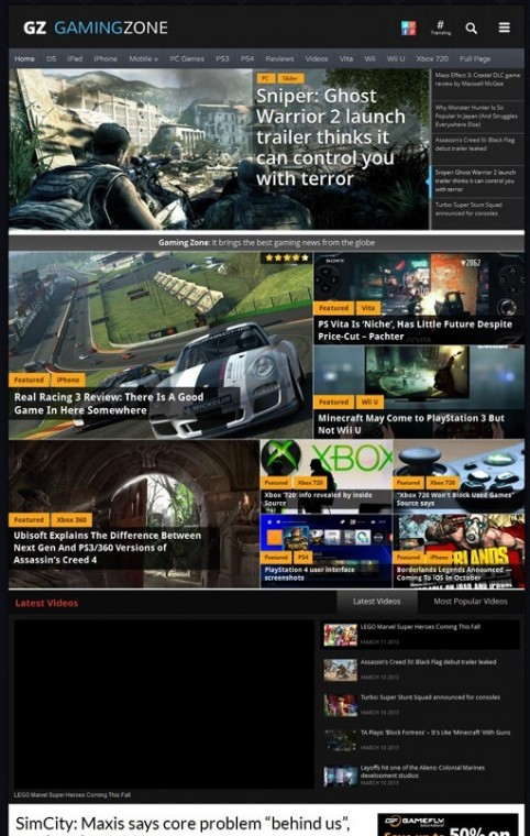 Magazine3 GamingZone WordPress Theme