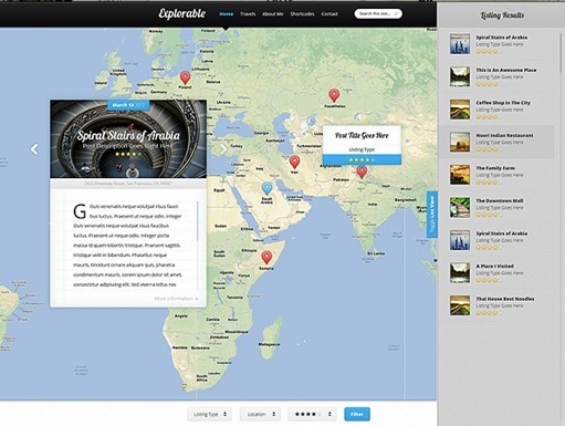 Elegant Themes Explorable WordPress Theme