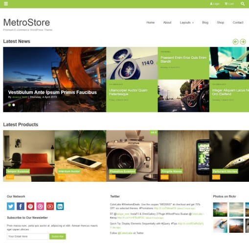 Colorlabs MetroStore WordPress Theme