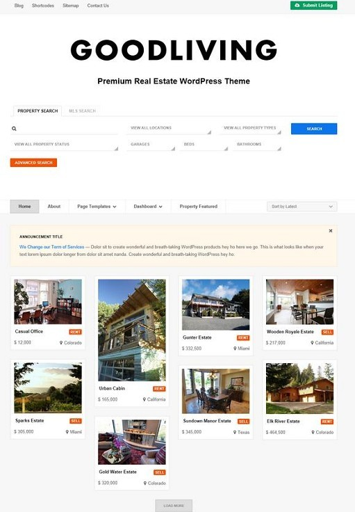 Colorlabs GoodLiving WordPress Theme