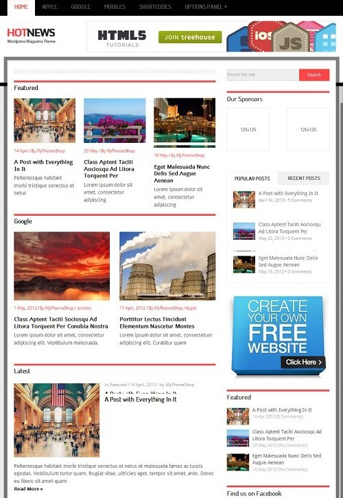 MyThemeShop Hot News WordPress Theme