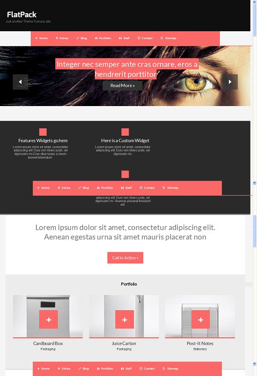 Flat Pack WordPress Theme