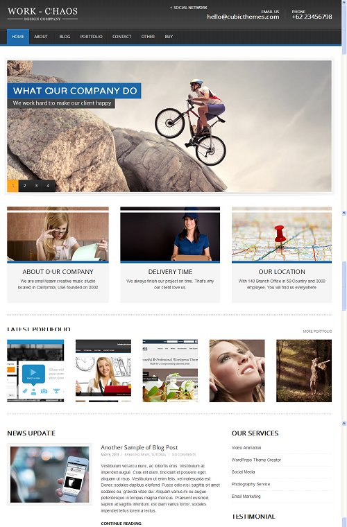 Workchaos business style wordpress theme