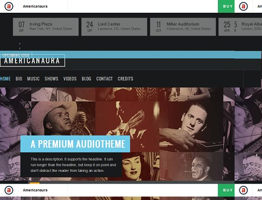 Americanaura Audio WordPress Theme