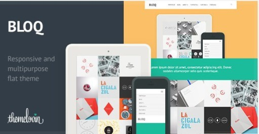 Bloq WordPress Multipurpose Flat Theme