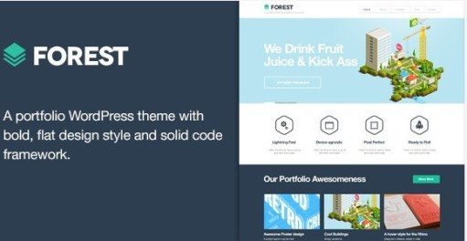 Forest WordPress Flat Theme