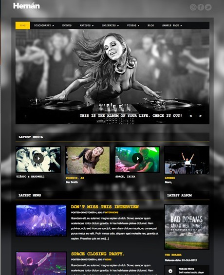 Hernan WordPress Theme