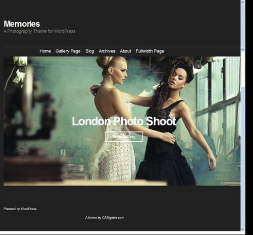 CSSigniter Memories WordPress Photography Theme