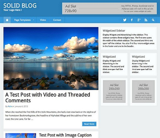Solid Blog WordPress Flat Theme