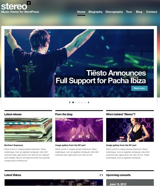 Stereo Squared WordPress Theme