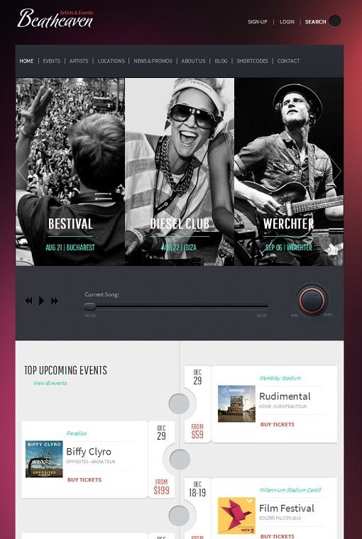 ThemeFuse Beatheaven Music WordPress Theme