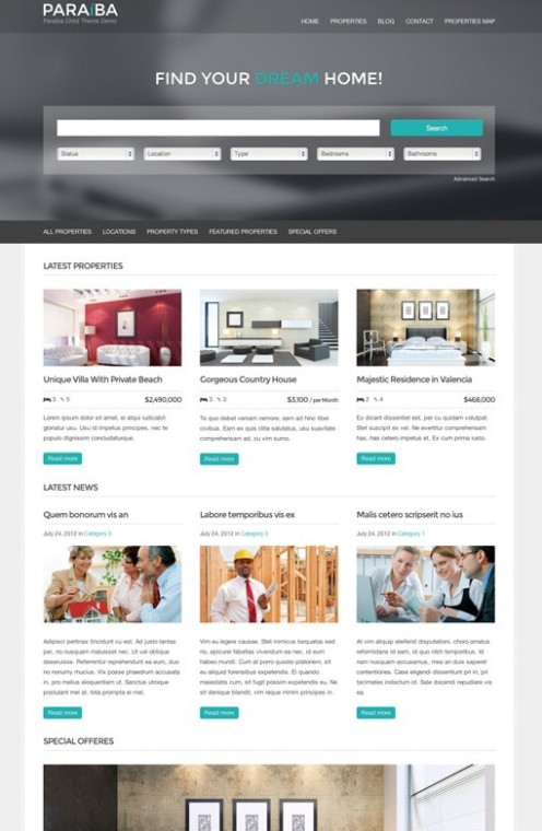 Paraíba Real Estate WordPress Child Theme For wpCasa Framework