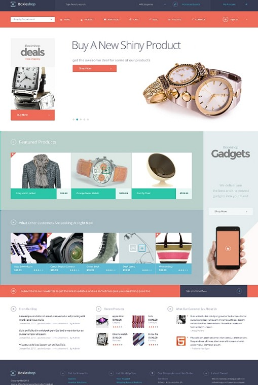 Tokokoo Boxie Shop eCommerce WordPress Theme