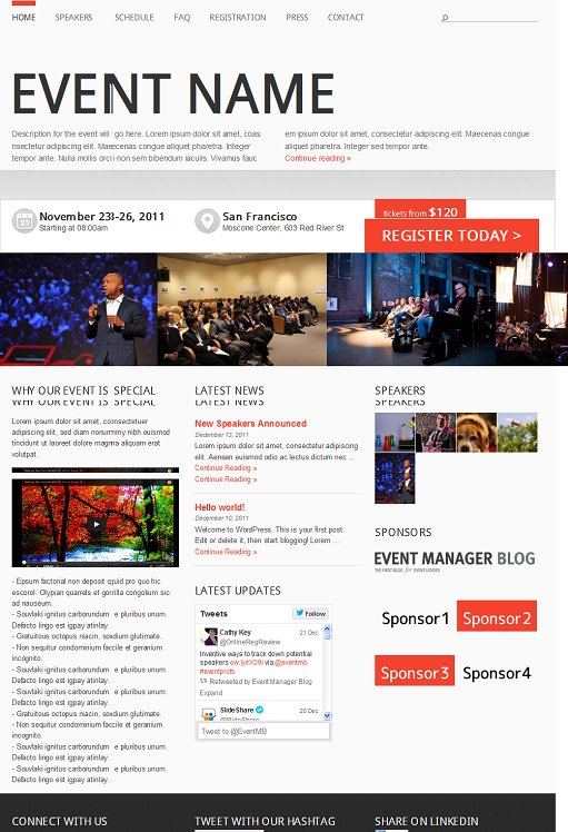 Event Manager Responsive WordPress Event Theme