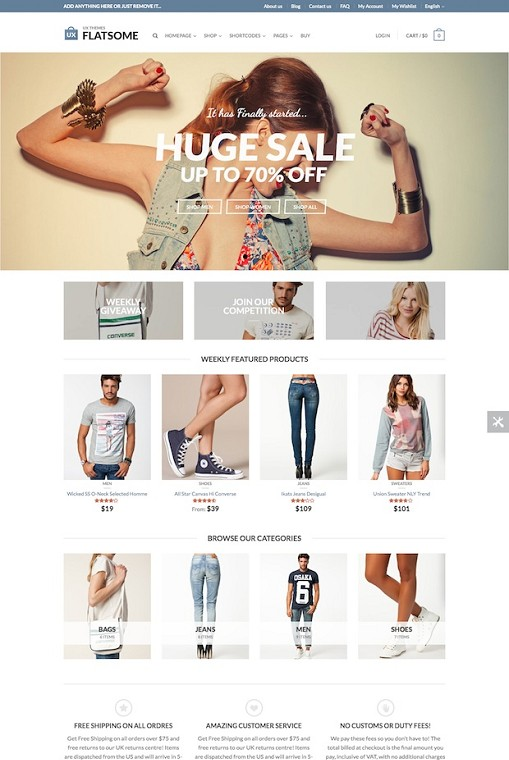 Flatsome WordPress Theme : Flat Responsive WooCommerce Theme