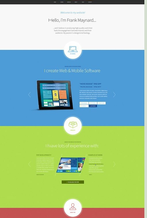ThemeFuse Freelancer One Page WordPress Theme