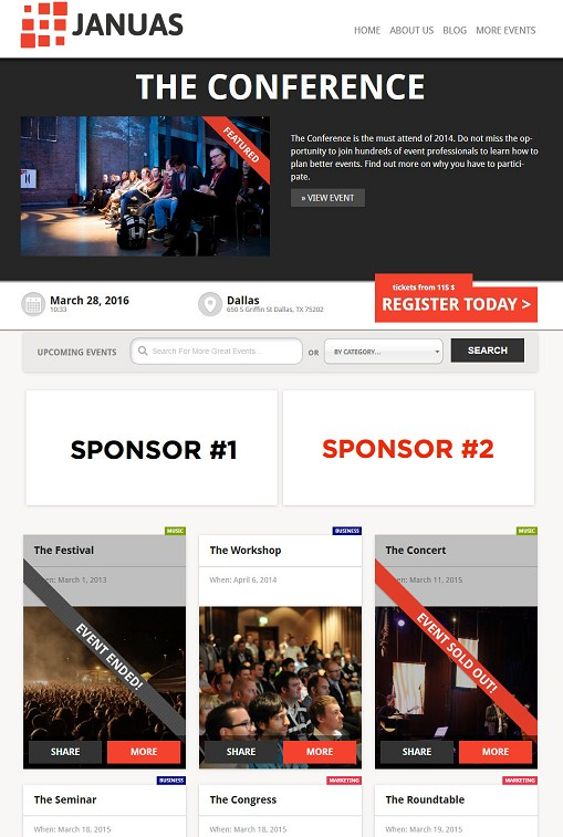 Januas WordPress Theme From Event Manager Blog