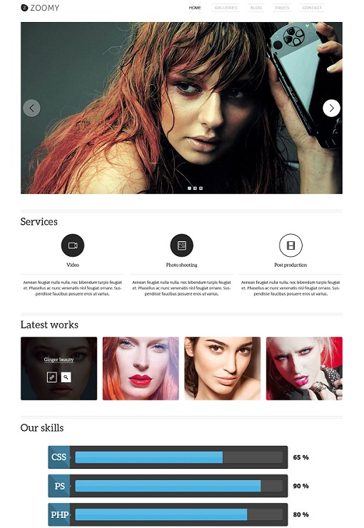 TeslaThemes Zoomy Photography WordPress Theme