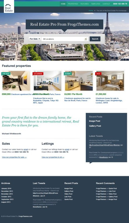 FrogsThemes Real Estate Pro WordPress Theme