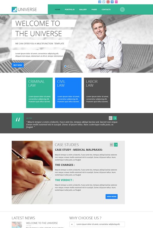 TeslaThemes Universe Multipurpose WordPress Theme