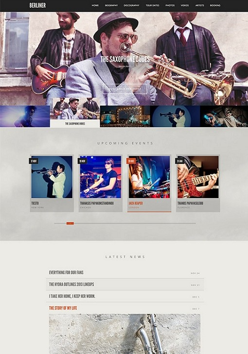 CSSIgniter Berliner Music WordPress Theme