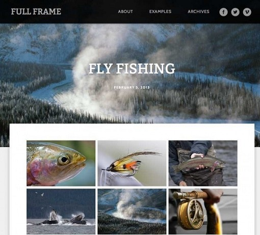 Full Frame WordPress Theme By Graph Paper Press