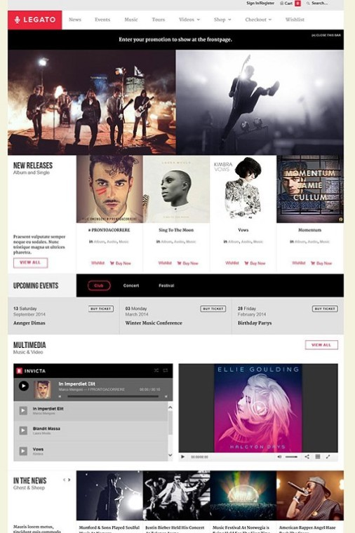ColorLabs Legato Music WordPress Theme