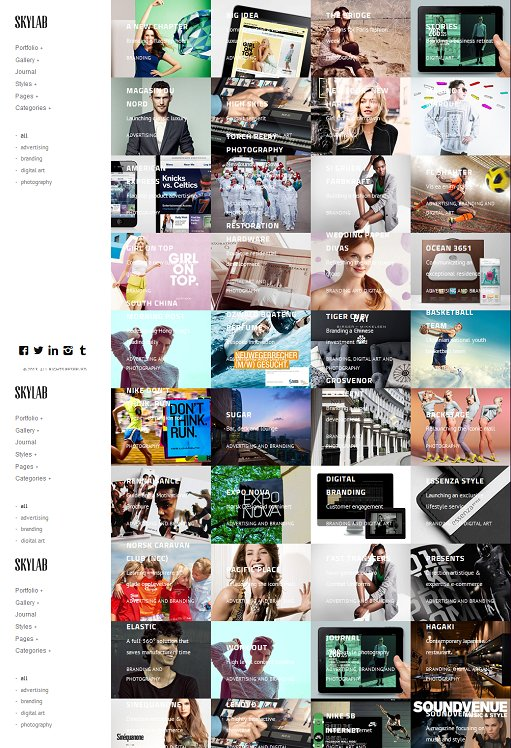 Skylab Photography Gallery WordPress Theme