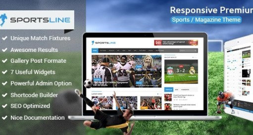 Sportsline Responsive WordPress Sports News Theme