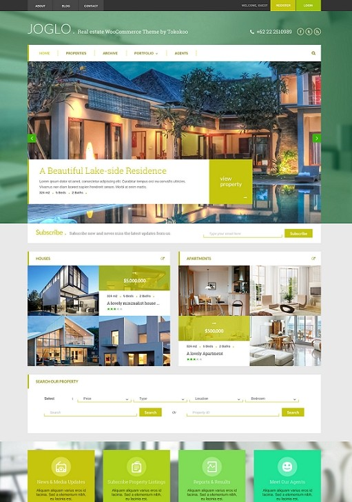 Tokokoo Joglo Woocommerce Real Estate WordPress Theme