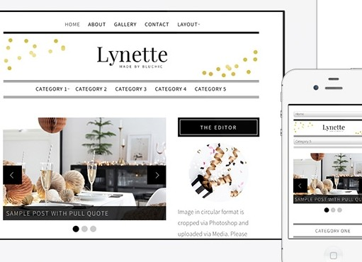 BluChic Lynette WordPress Theme