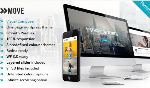 Move - Responsive OnePage Parallax WordPress Theme