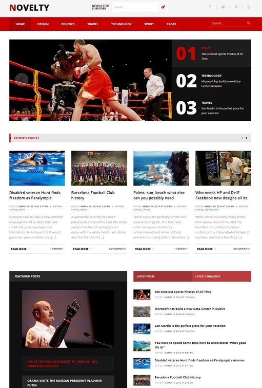 TeslaThemes Novelty Magazine WordPress Theme