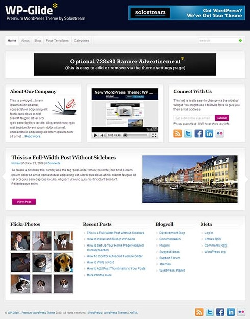 WP Glide WordPress Theme By Solostream