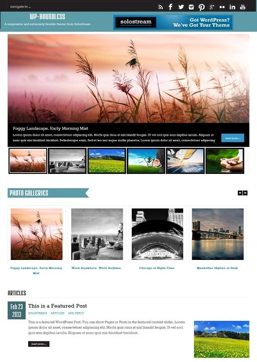 WP-Boundless WordPress Theme : Solostream