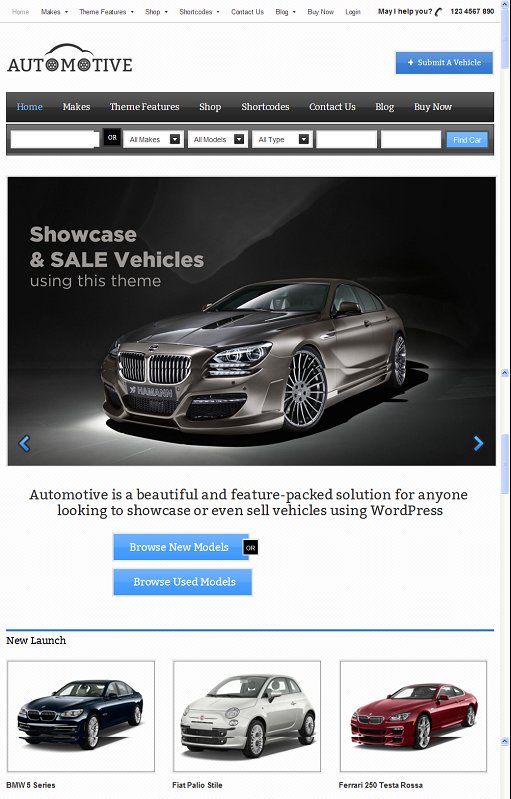 Automotive Car classifieds WordPress theme