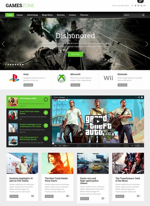 ThemeFuse GamesZone Gaming WordPress theme