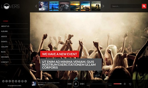 TeslaThemes Lovers – Music WordPress Theme