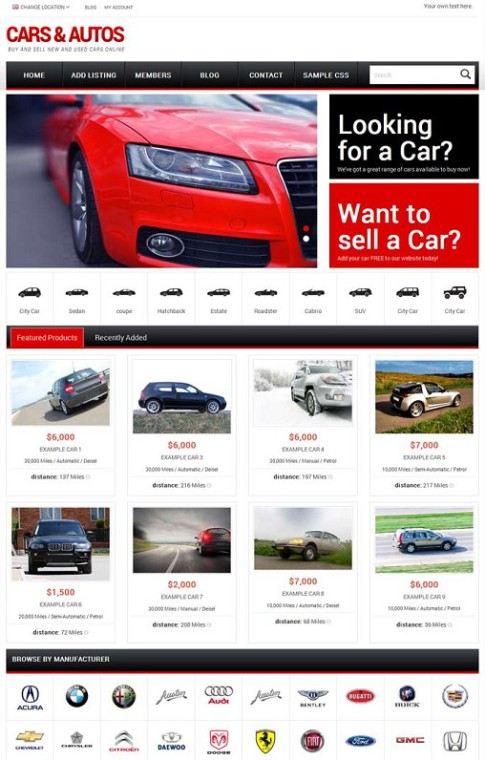 PremiumPress Responsive Car Dealer Theme