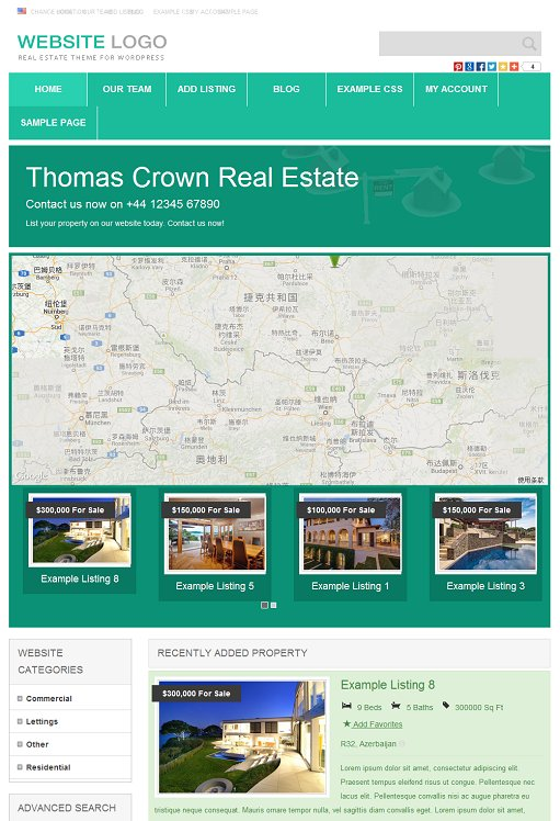 PremiumPress Responsive Real Estate Theme