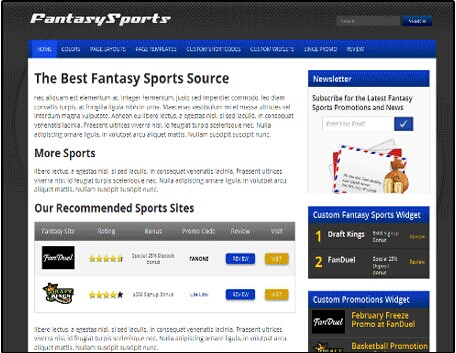 Flytonic Fantasy Sports WordPress Theme