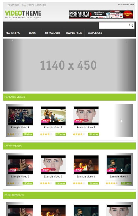PremiumPress Responsive Video Sharing Theme