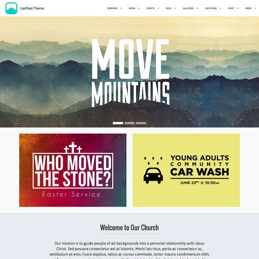 UPThemes Uplifted Church WordPress Theme