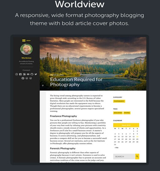 UPThemes Worldview WordPress Theme