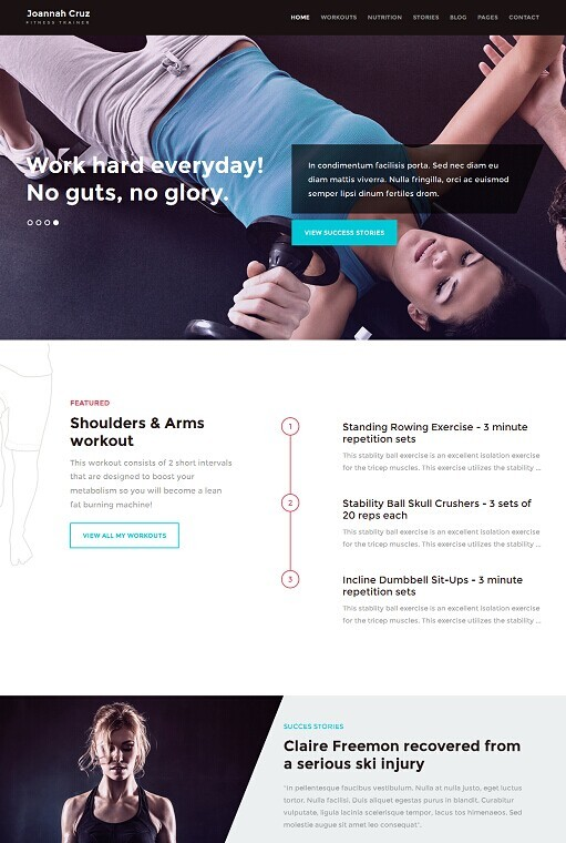 InShape Fitness WordPress Theme