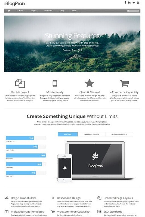 PageLines iBlogPro - Apple/Mac Inspired WordPress Theme